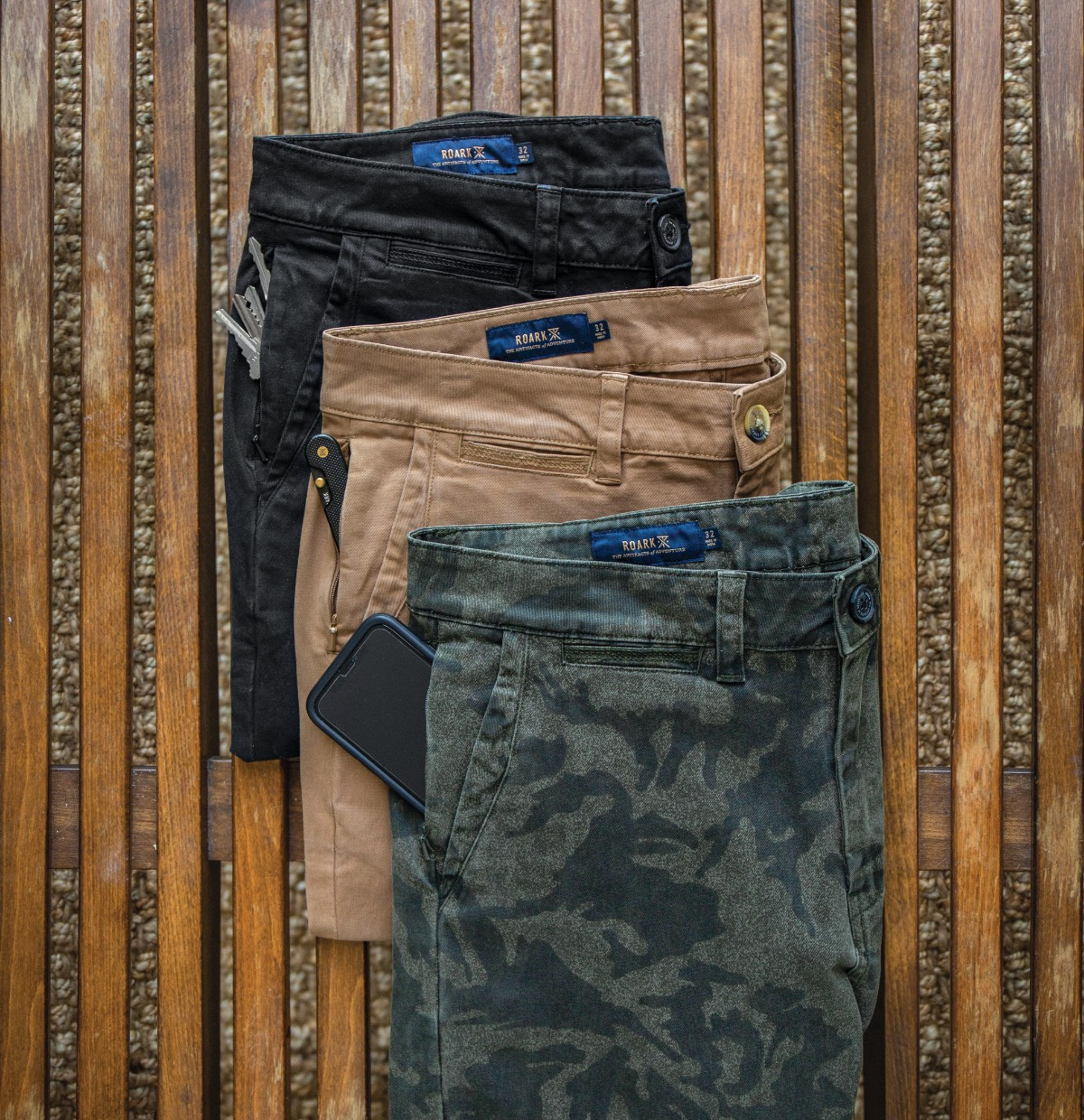 Roark's updated chino pant & new colors