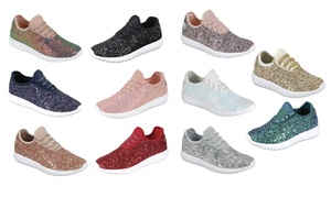 Women Bling Sequin Glitter Fashion Shoes Comfort Sneaker Lightweight