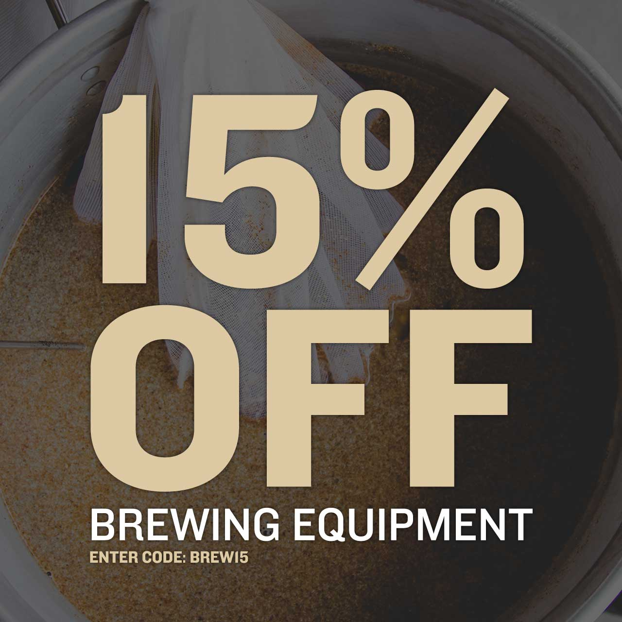 15% Off Equipment
