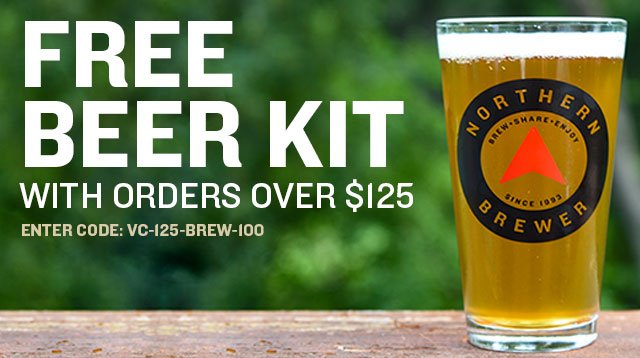 Free Beer Recipe Kit With Orders Over $125