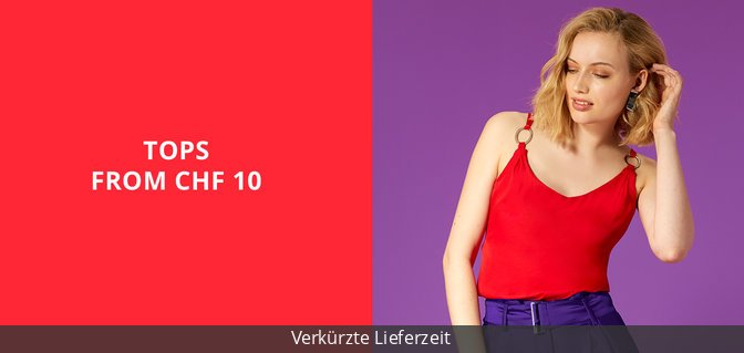 Tops from CHF 10
