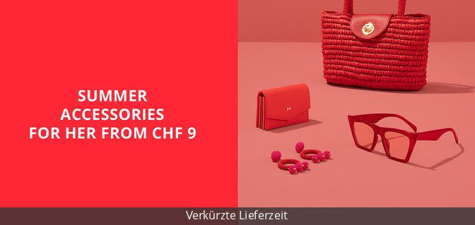 Summer Accessories for Her from CHF 9