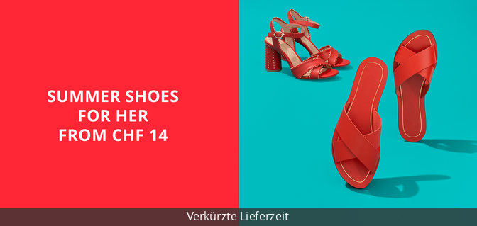 Summer Shoes for Her from CHF 14