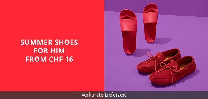 Summer Shoes for Him from CHF 16