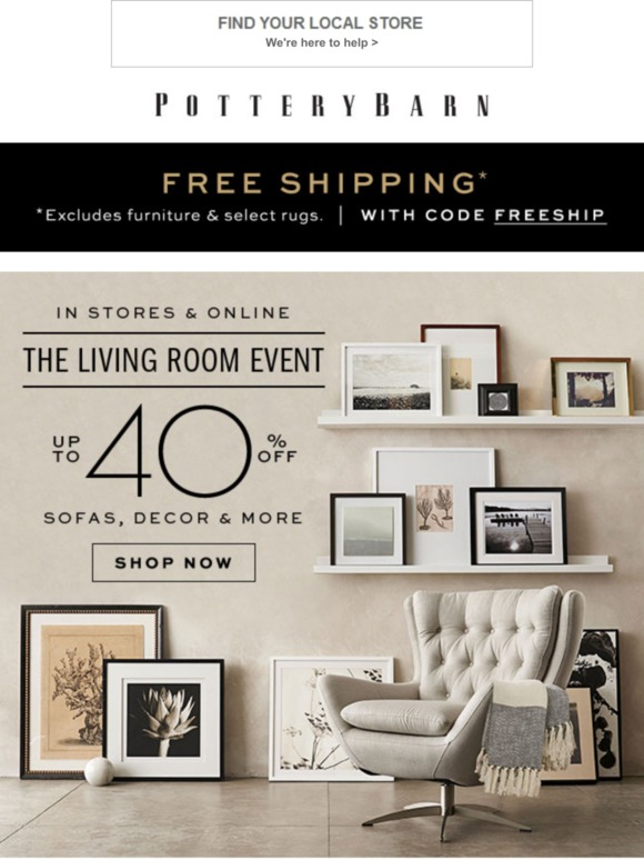 Pottery Barn: How to Style Your Gallery Wall + Up to 40% Off ...