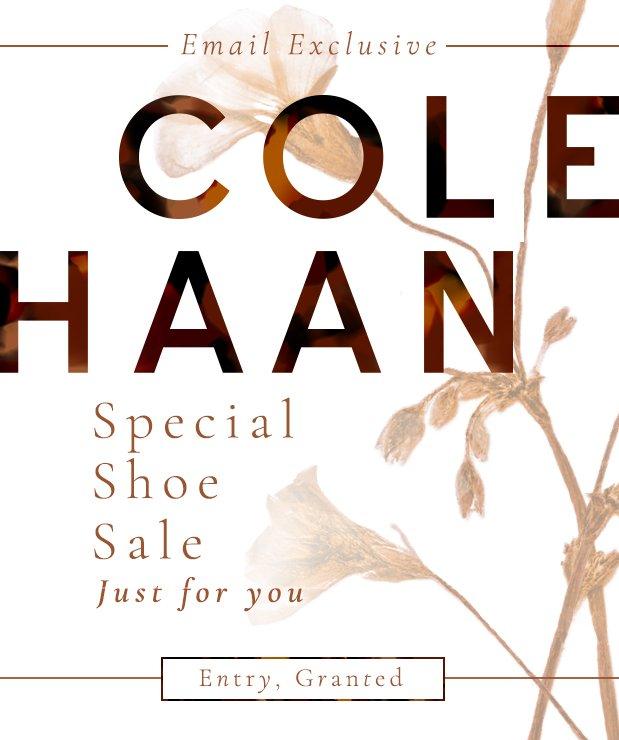 Cole Haan Shoe Sale. Cut. The. Line.