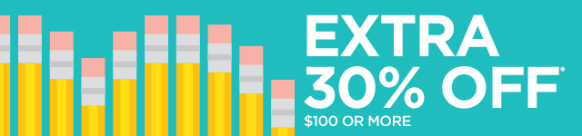 Extra 30% off* $100 or more