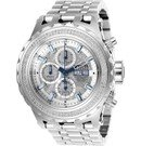 Invicta Reserve Mens Diamond Automatic 52 mm Stainless Steel, Dark Blue Case Silver Dial