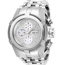 Invicta Reserve Bolt Zeus Mens Diamond Automatic 53 mm Stainless Steel Case Silver, White Dial