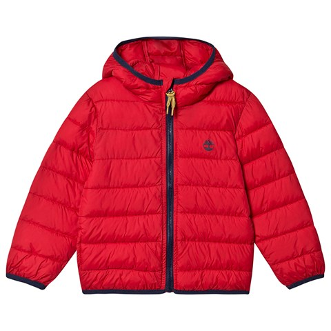 Timberland Red Water Repellent Lightweight Packable Puffer Jacket