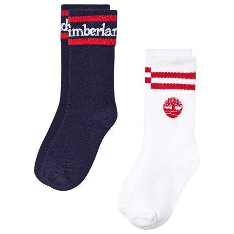 Timberland Navy and White Timberland Tree Socks