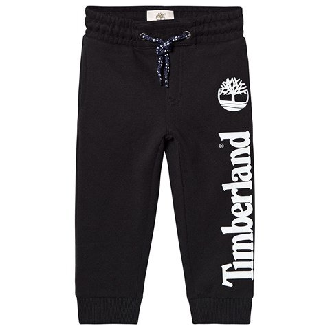 Timberland Black Timberland and Tree Logo Sweatpants