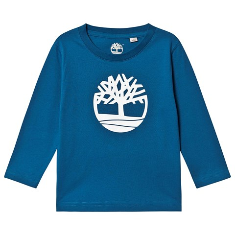 Timberland Blue Big Timberland Tree Long Sleeve T-Shirt