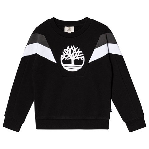 Timberland Black Contrast Big Timberland Tree Sweatshirt