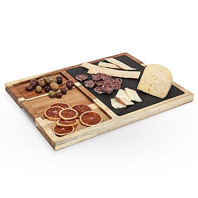 Rustic Farmhouse Slate and Wood Appetizer Board by Twine