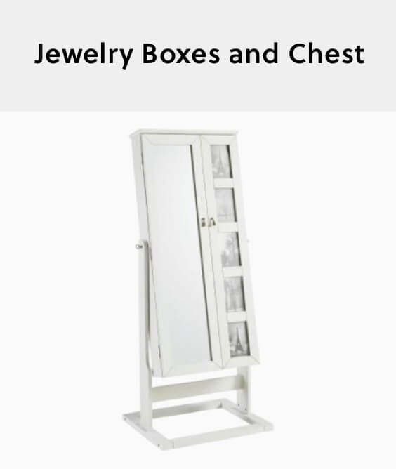 jewelry boxes and chest