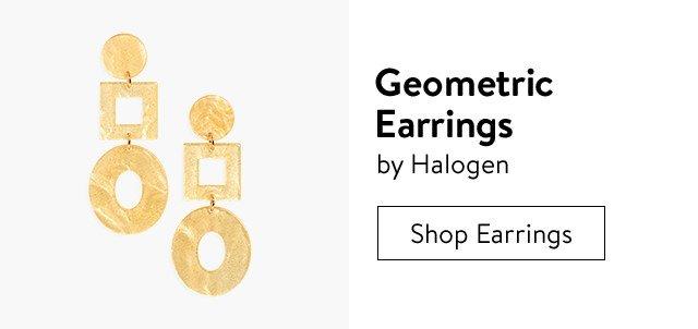 Geometric earrings.