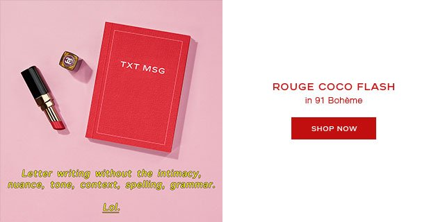 ROUGE COCO FLASH in 91 Bohème