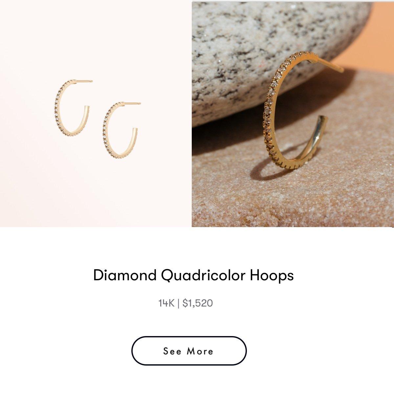 diamond quadricolor hoops