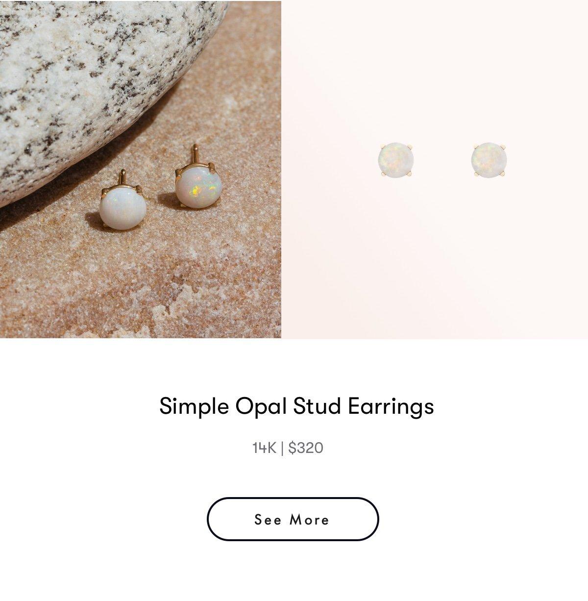 simple opal stud