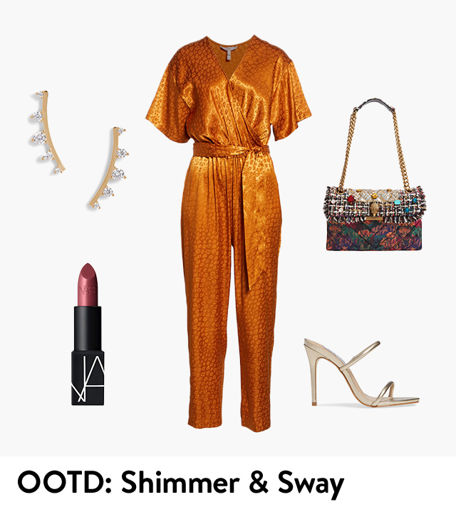 Outfit of the day: shimmer and sway.