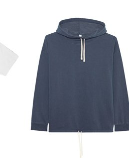 French Terry Drawstring Hoodie