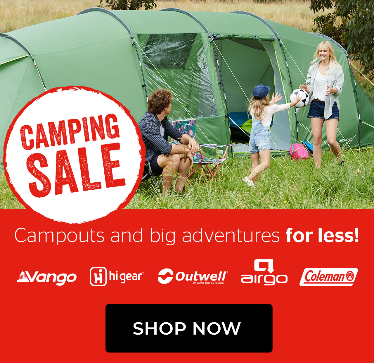 Camping sale - campouts and big adventures for less!