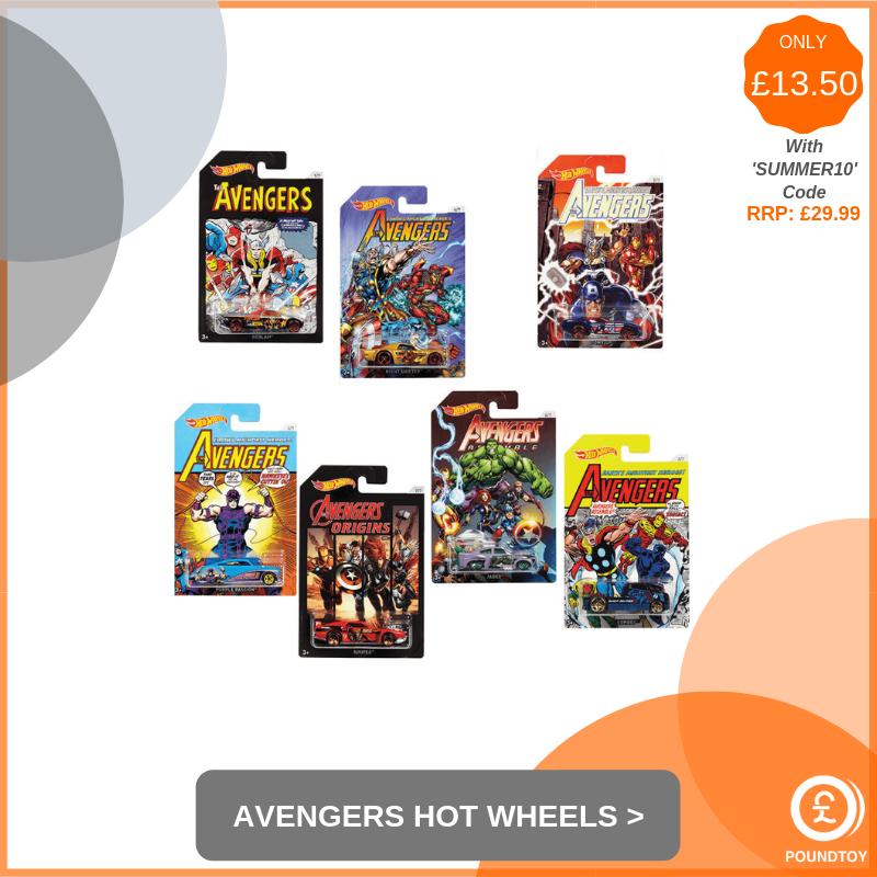 Avengers Set of 7 Hot Wheels