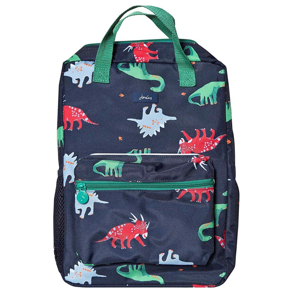 Joules Navy Dinos Easton Backpack