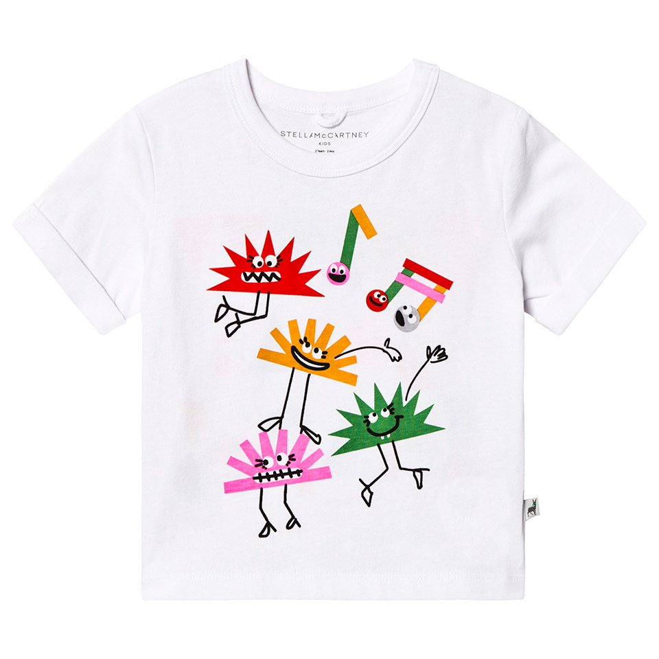 Stella McCartney Kids White Hedgehog Throw Some Shapes T-Shirt