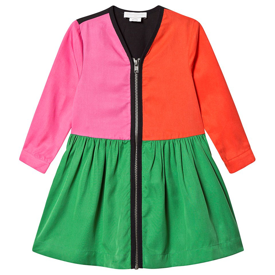 Stella McCartney Kids Multi Colourblock Zip Dress