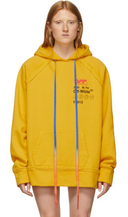 Off-White - Yellow Industrial Y013 Incompiuto Hoodie