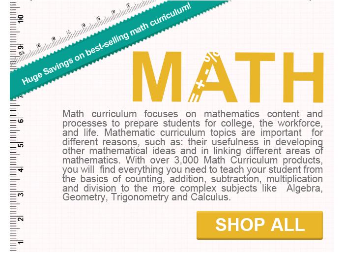 Math Curriculum Deals