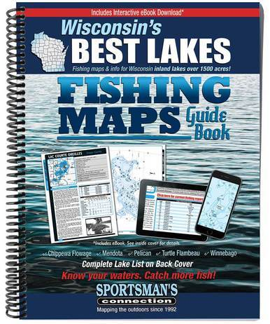 Image of Wisconsin's Best Lakes Fishing Maps Guide Book