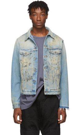 Off-White - Blue Wizard Slim Denim Jacket