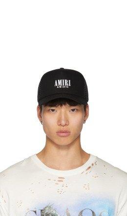 Amiri - Black Logo Trucker Cap