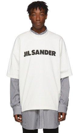 Jil Sander - White Boxy Logo T-Shirt