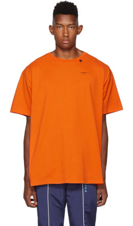 Off-White - Orange & Black Abstract Arrows T-Shirt