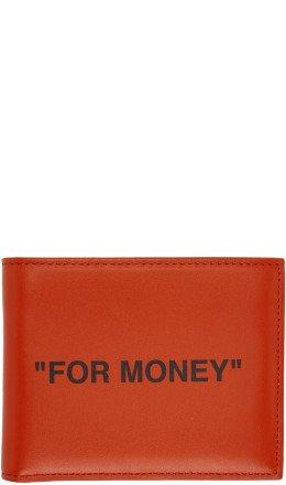 Off-White - Orange Quote Bifold Wallet
