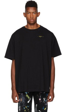 Off-White - Black & Yellow Painted Arrows T-Shirt