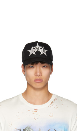 Amiri - Black Snake Star Trucker Hat