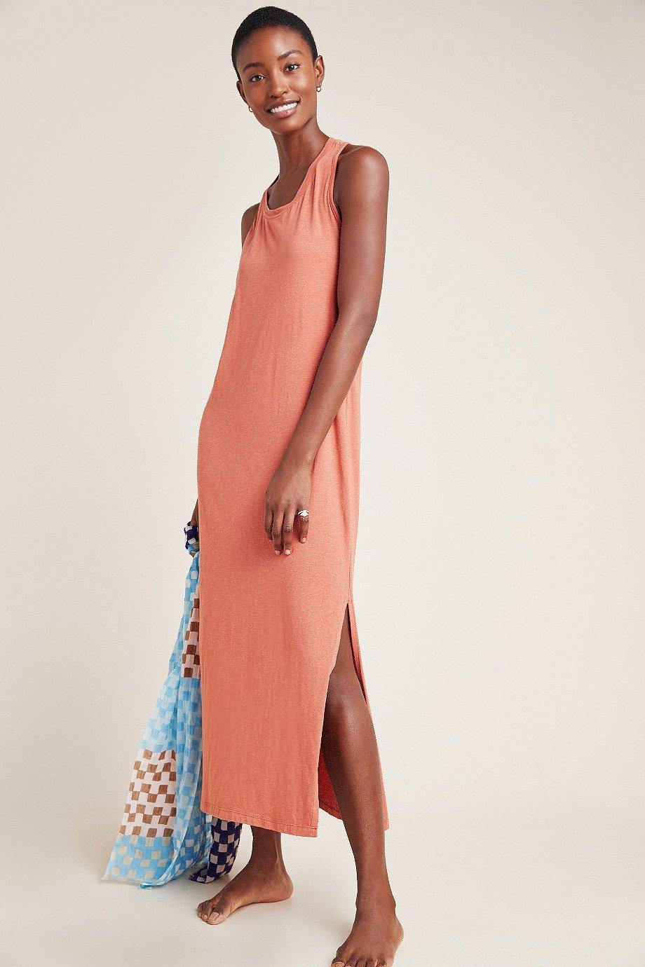 Sundry Twist-Back Midi Dress