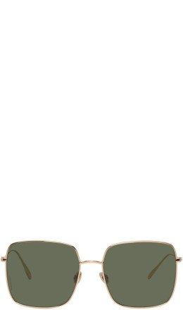 Dior - Gold & Green DiorStellaire1 Sunglasses