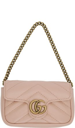 Gucci - Pink GG Marmont Coin Case Bag