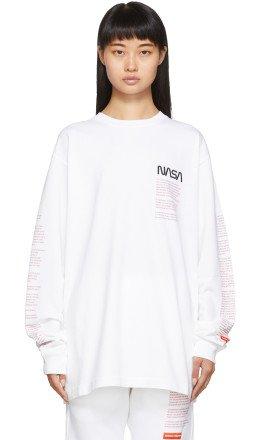 Heron Preston - White Facts Long Sleeve T-Shirt
