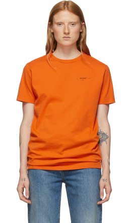 Off-White - Orange Logo Slim T-Shirt