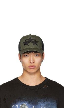Amiri - Khaki & Black Star Trucker Cap
