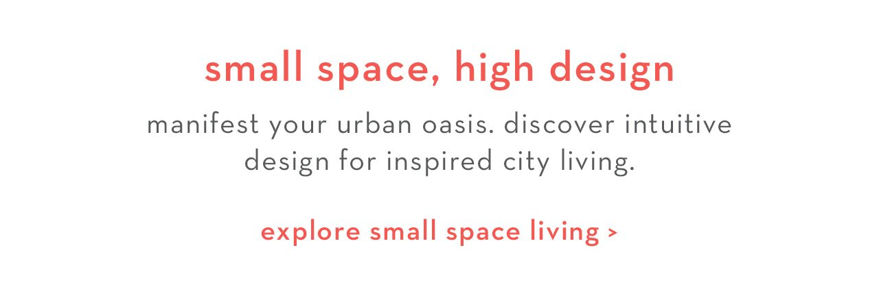 small space, high design