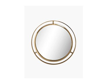 Shop the Deluxe Gold Metal 24-inch Mirror