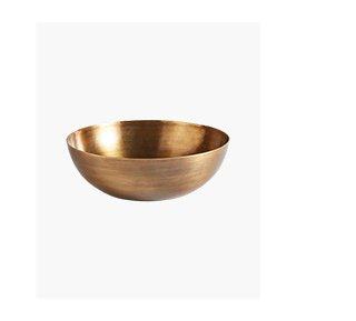 Shop the Large Burnished Copper Metal Bowl